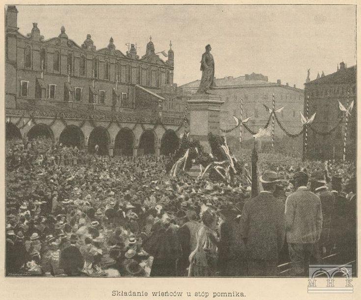Uroczystość odsłonięcia pomnika Adama Mickiewicza 1898 r.