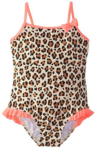 Osh Kosh Little Girls Animal Print One Piece Swimsuit Leopard 4 * You can find out more details at the link of the image.
