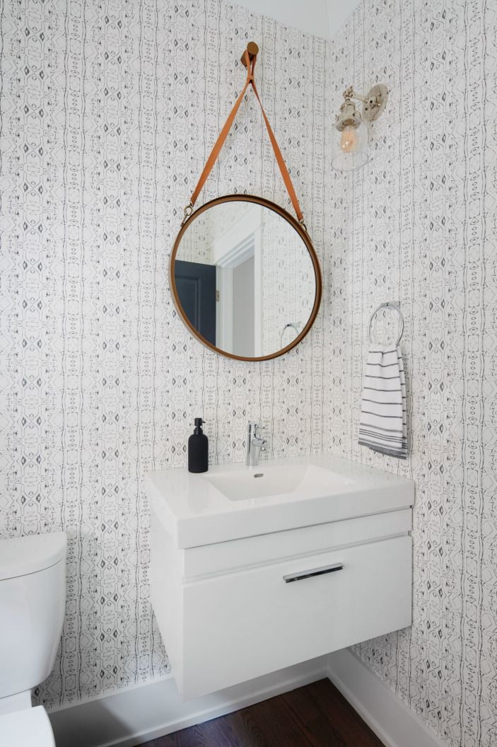Captivating Hello @eskayel Wallpaper! Totally Brings This Small Bathroom To Life. Great Ideas