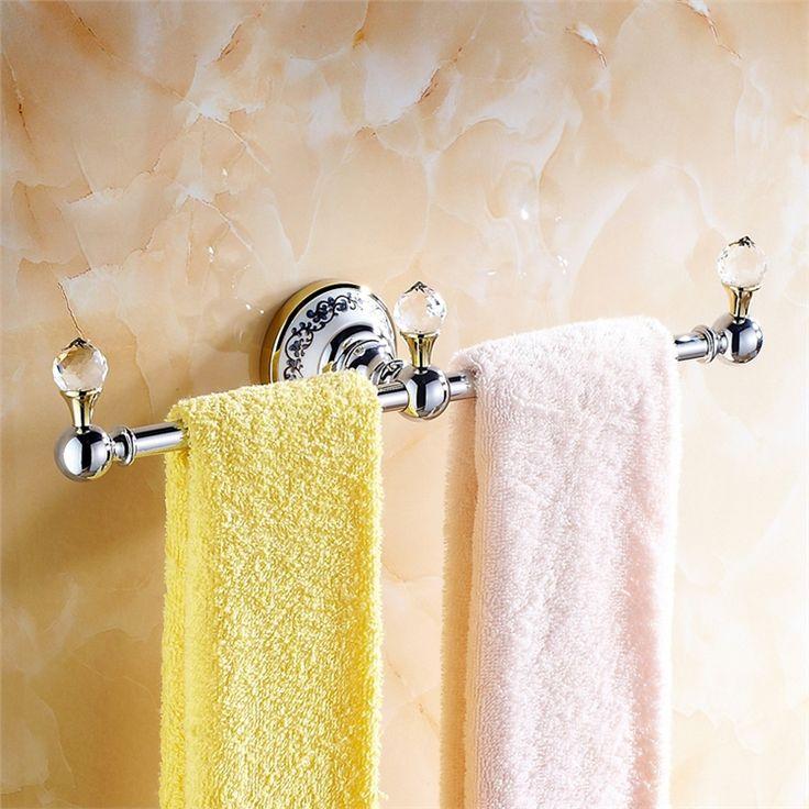 浴室タオルバー タオル掛け タオル収納 壁掛けハンガー バス用品 金色&クロム バスアクセサリー 現代的 LWA094