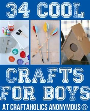 34 Cool Crafts for Boys. Lol I'm sure a girl would like this just as much.