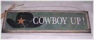 Cowboy Up Country western wooden Wall art Sign by melimarlatt, $11.99