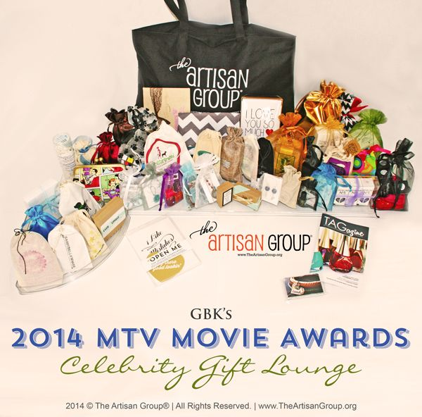 TAG Celebrity Gifts for GBK's #MTV Movie Awards Celebrity Gift Lounge #theartisangroup #swag #celebrity