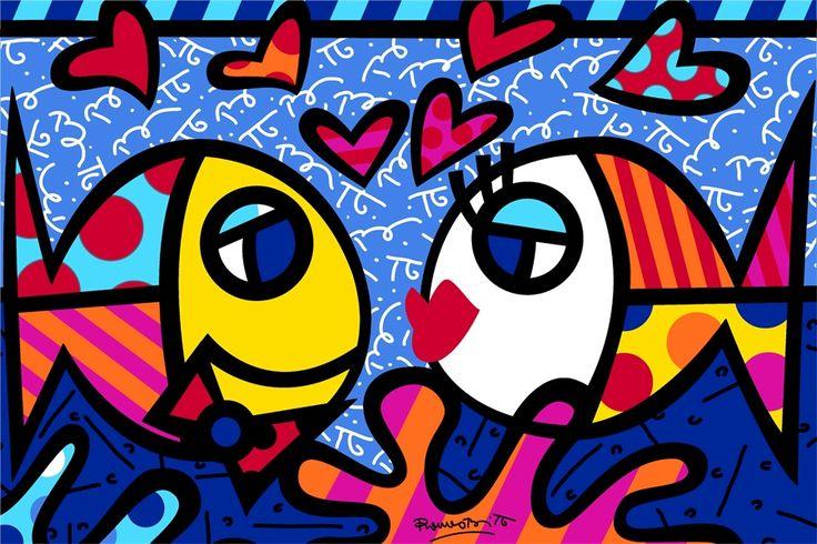 Barato Romero Britto Pintura Lona feita sob encomenda Etiqueta RB Peixe PROFUNDO AMOR Posters Crianças Romero Britto Arte Adesivos de Parede Papéis de Parede # PN #2408 #, Compro Qualidade Adesivos de parede diretamente de fornecedores da China:  você pode Deixar uma massagem para me dizer qual deles você gosta para personalizadona figura a seguirdepois que você f
