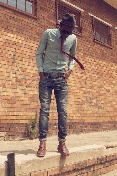 Dobbs Hat, H Shirt, Diesel Belt, Sebago Shoes