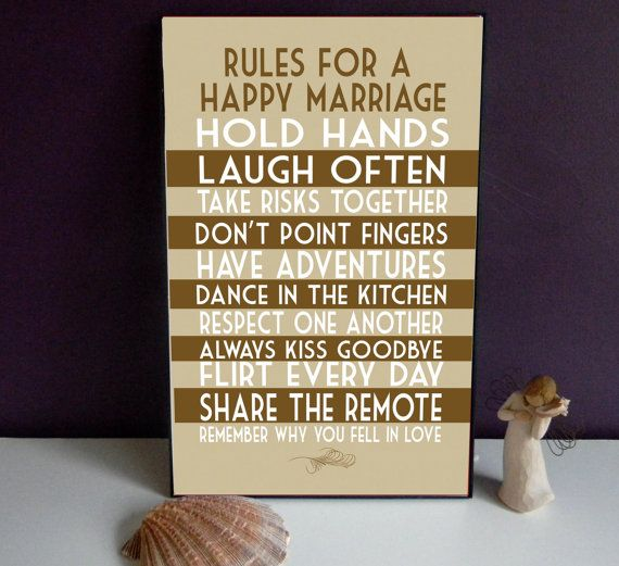 Marriage Rules Art Print Wedding Print Decor by SmartyPantsStudio, $24.00