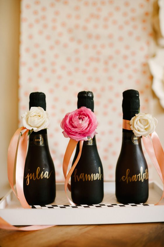 Bridal Shower Inspiration - Custom champagne bottles
