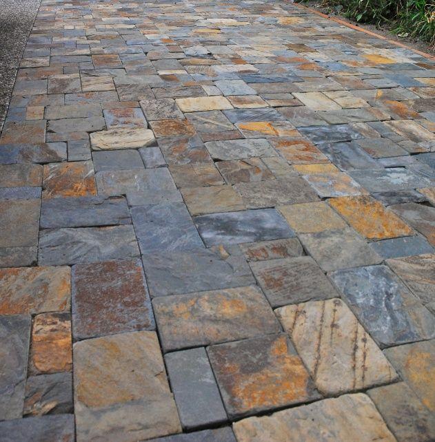 Stone Pavers Slate : Solarstone natural stone tumbled slate landscape pavers