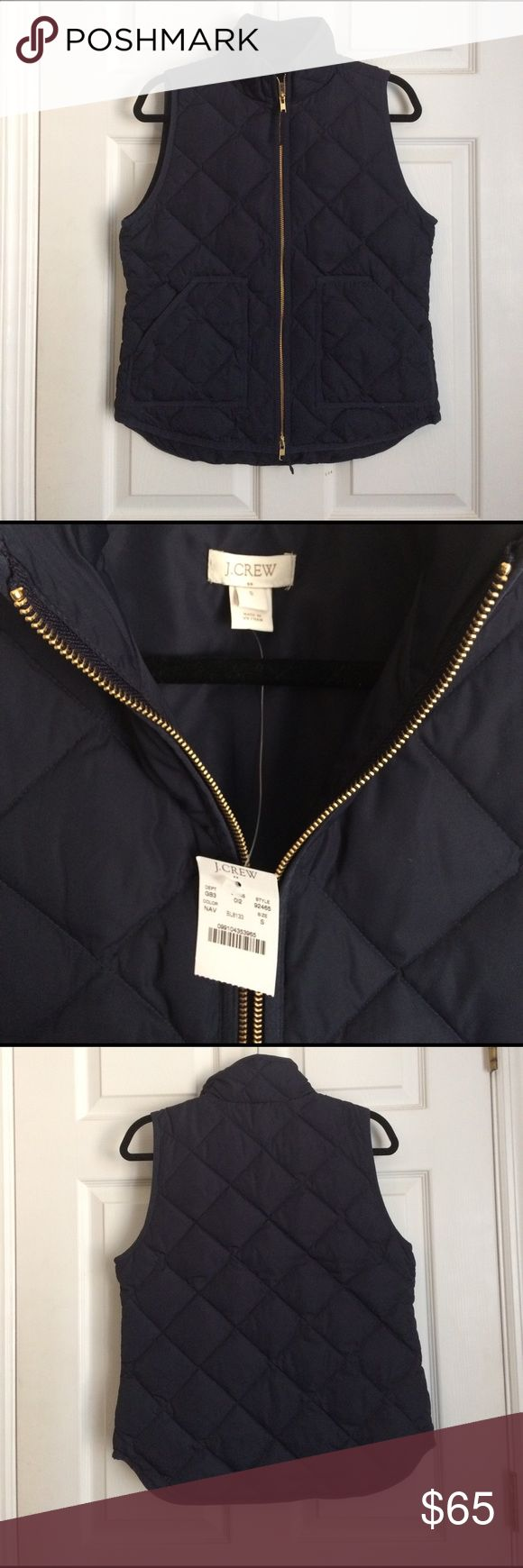 NWT J Crew Factory Quilted Vest Navy Small NWT J Crew Factory Quilted Vest Navy Small J. Crew Factory Jackets & Coats Vests