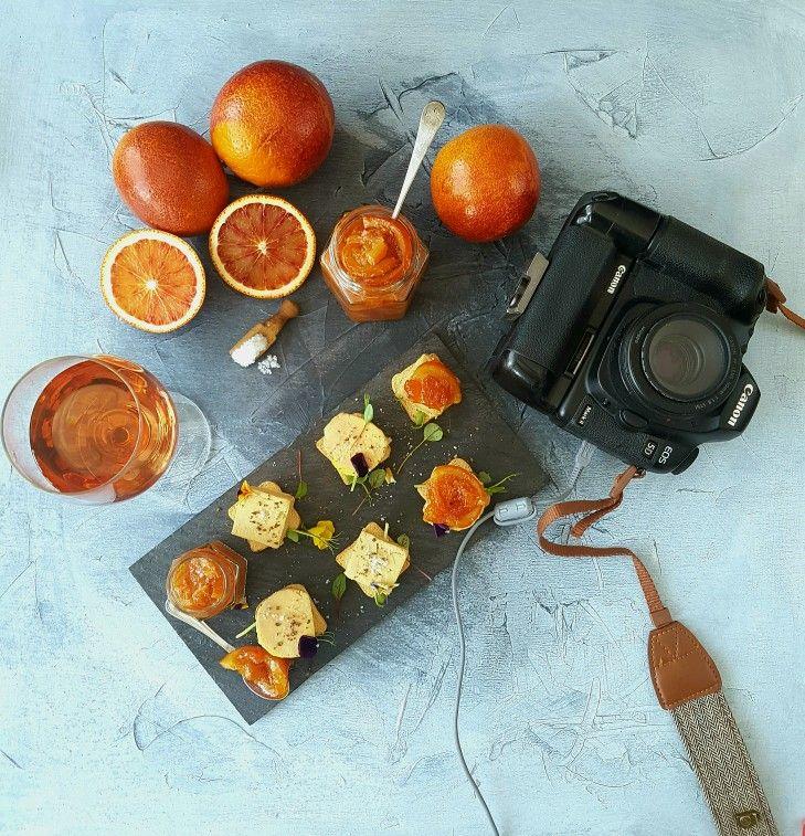 Terrine de foie gras & blood orange jam