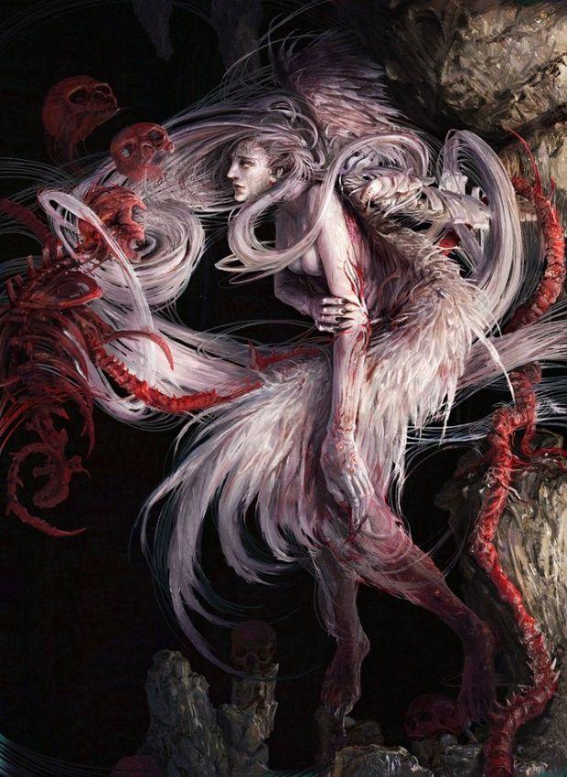 Fantasy art by Kuang Hong