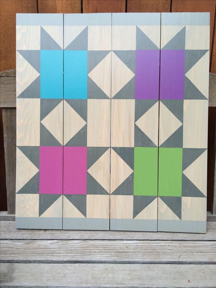 Barn Quilts by Chela - Barn quilt on cedar