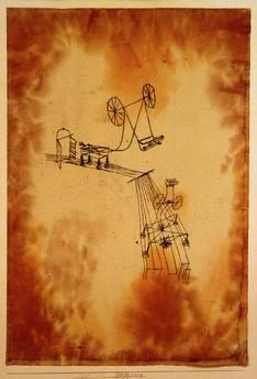 Paul Klee 'Begegnung'(Encounter) 1921 Oil and watercolor on paper on cardboard 44.3 x 30.5 cm