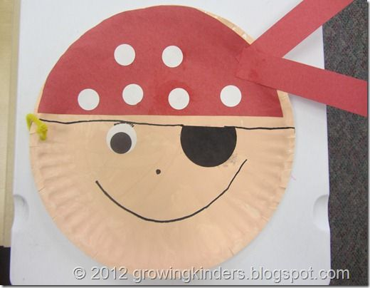 Pirate paper plate face Love it!