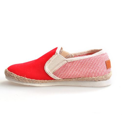 Toms Flax Weaving Side Striped Shoes Women in Red : toms outlet, your description $17
