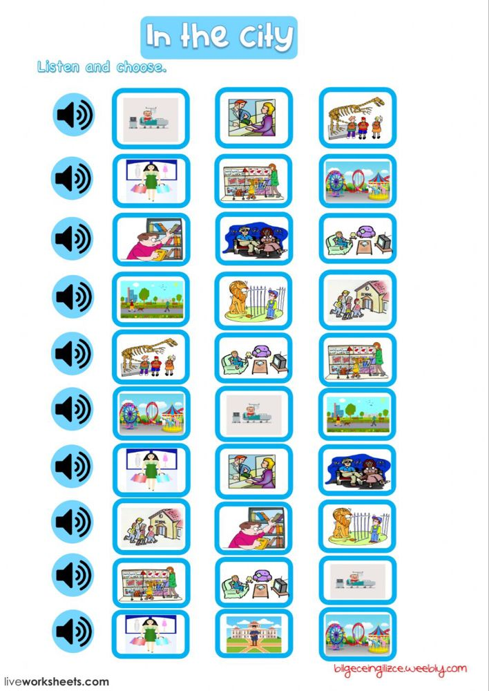 Places In The City Interactive And Downloadable Worksheet You Can Do The Exercises Online Or Download The Worksheet As Pdf Places of city worksheet