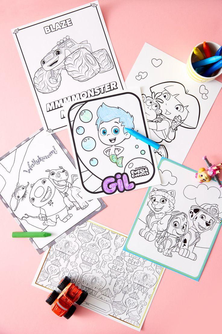 Ni nick jr games and coloring on online - Nick Jr Birthday Party Coloring Printables