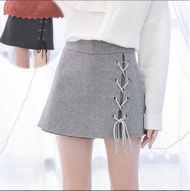 "Students fashion woolen high waist shorts SE9229   Coupon code ""cutekawaii"" for 10% off"