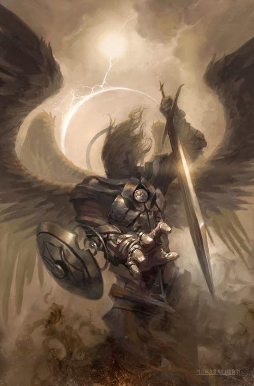 Peter Mohrbacher deviantart ilustrações fantasia sombria card games magic gathering anjos