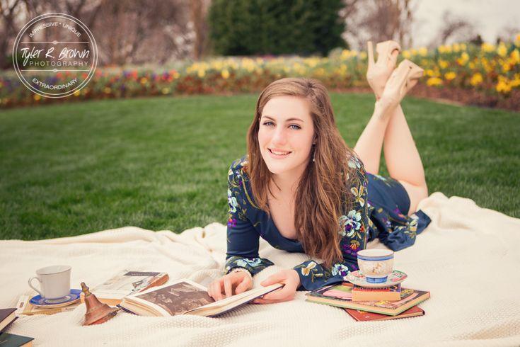 Riley McGuiness - Dallas Arboretum - Spring - Fashion - Stunning - Ideas for Girls - Senior Portraits - Senior Pictures - Beautiful - Tea Time - Tea Party - Park - Senior Model Rep - #seniorportraits - Liberty High School - Dallas - Tyler R. Brown Photography