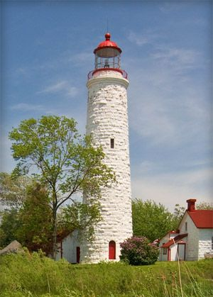 Point Clark Lighthouse on Lake Huron, Ontario, Canada