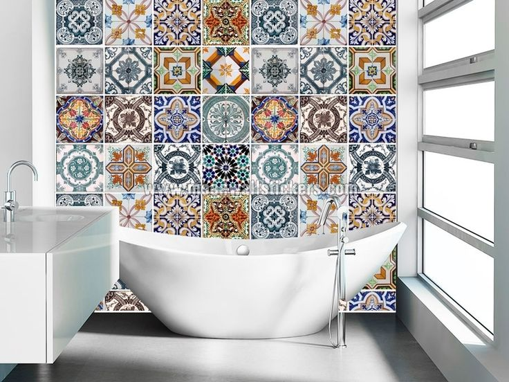Wall+Tile+Stickers+-+Portuguese+from+wall-decals+by+DaWanda.com