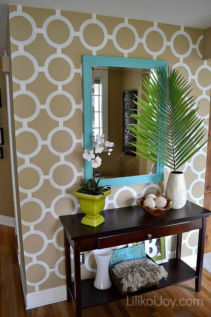Paint a Patterned Accent Wall (tutorial) - low cost, big impact