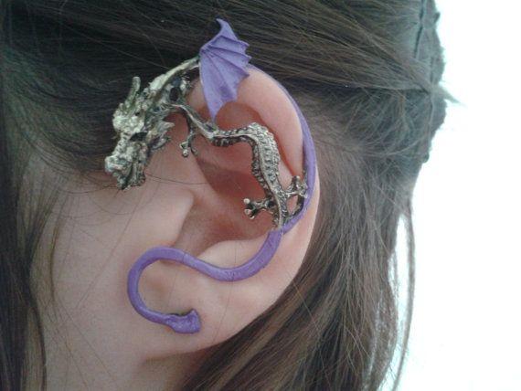 Cute Dragon ear cuff  Purple color by StylesBiju on Etsy, $14.90
