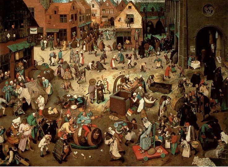 Pieter Brueghel l'Ancien - Le combat de Carnaval et Carême / 1566