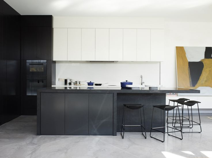 Kent St Kew project by Mim Design & Canny Builders. Flooring by us: X-Bond Polished Bond in Grey Marble.    #xbond #polishedconcrete #seamless #floor #kitchen #design #modern #interiors #architecture #minimalistic