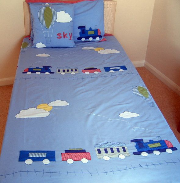 Train Duvet Bedding and Cushion Cover by Little Cottage Treasures - The Children's Bedding Store