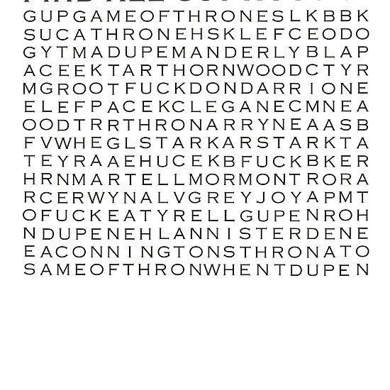 Game of Thrones Crosswords