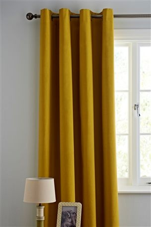 Bedroom Blackout Eyelet Curtains