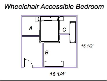 1000 images about whellchair on pinterest house design for Ada bedroom
