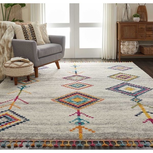 Nourison Moroccan Casbah Tribal Tassel Area Rug Colorful