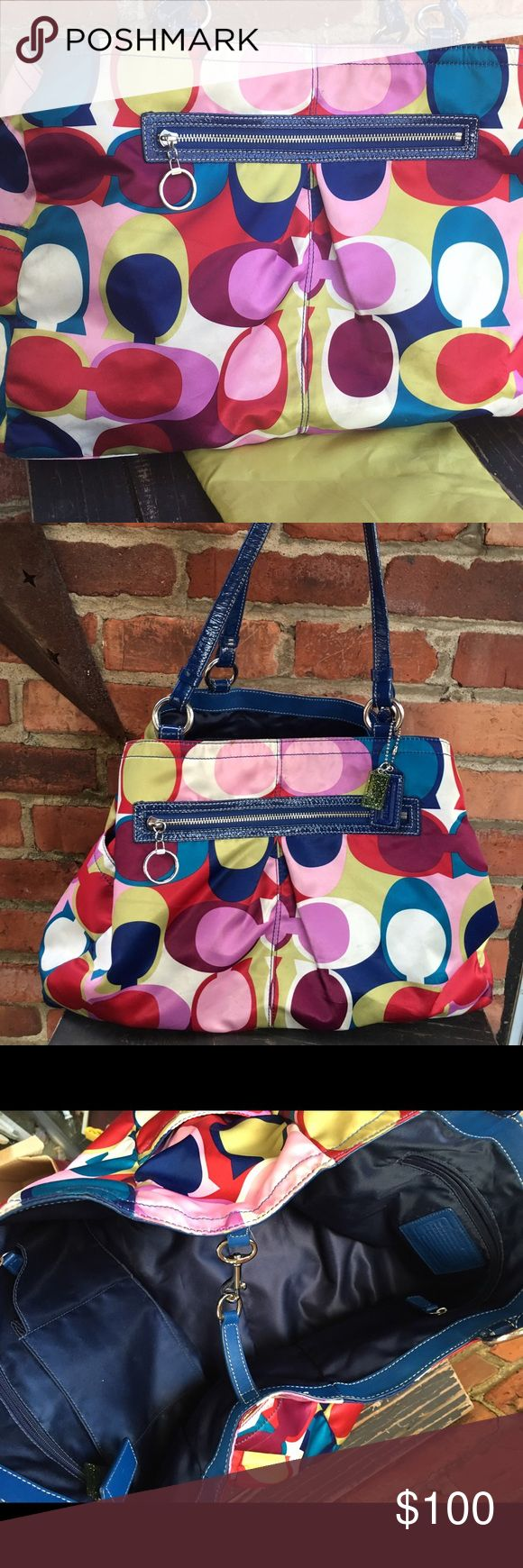 COACH diaper bag with changing pad Beautiful multi color diaper bag with changing pad Coach Bags Baby Bags