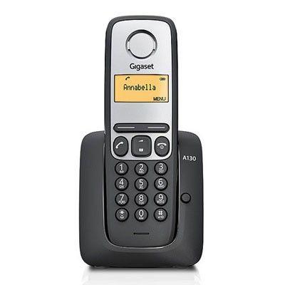 Telefon DECT fara fir Gigaset A130 Negru