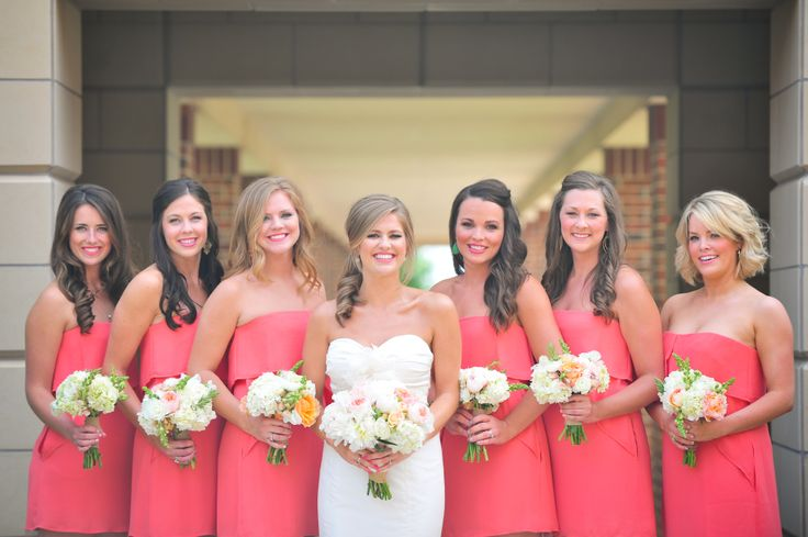 "Bridesmaid DRESS THAT WORKS FOR ALL SIZES. The style can enhance & reduce bust size. It is flattering to both the full figure & the flat-chested. It shouldn't work that way but it does. Apple or pear shaped figures both can benefit from an umpire waist. ""The beautiful bridesmaids. Bouquets by Poppy Lane""."