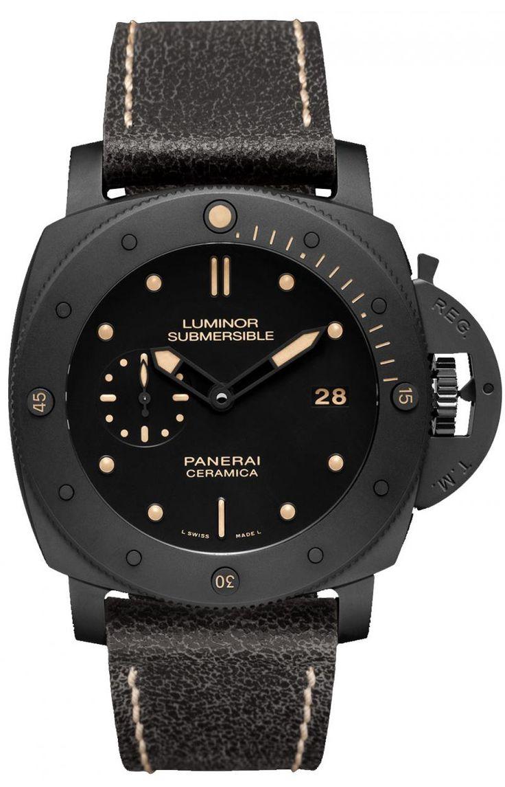 Officine Panerai PAM00508 Special Editions Luminor Submersible 1950 3 Days Automatic Ceramica. #panerai - черные - швейцарские мужские наручные часы