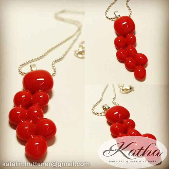 Absolutely special shape! https://www.etsy.com/listing/506195707/firebolt-red-necklace-fused-glass