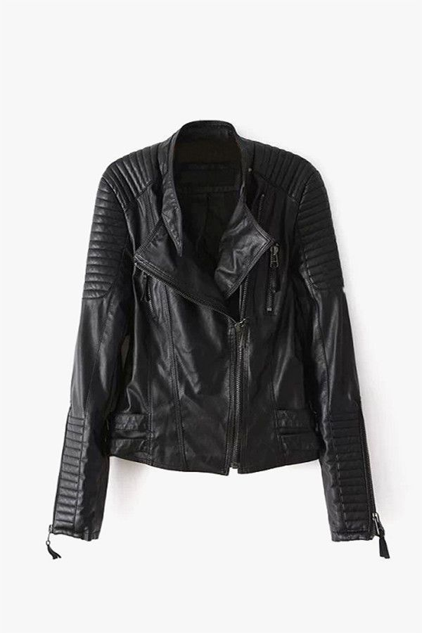 17 Best ideas about Black Faux Leather Jacket on Pinterest ...