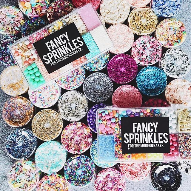 Fancy Sprinkles is your one stop shop for deluxe edible sprinkles, classic jimmies, confetti sprinkles, and metallic gold and silver dragees.