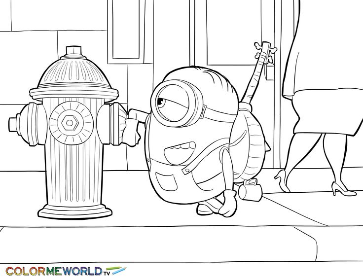 7 best Minions Coloring Pages images on Pinterest Minion stuff