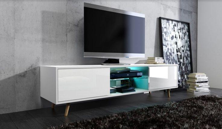 Szafka RTV SWEDEN 1 to podyktowany najnowszymi trendami w meblarstwie element wyposażenia nowoczesnego mieszkania.