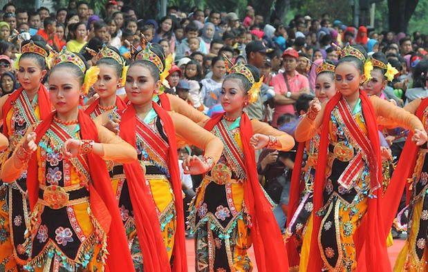 Tari Banjar Kemuning Penari Kostum Tari Budaya