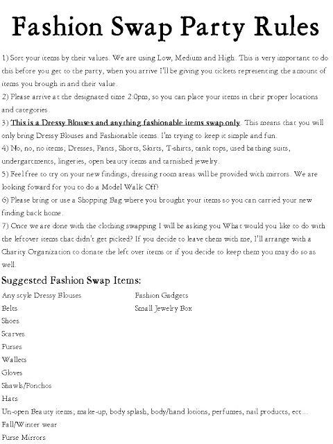Inspire Others: My First; Fashion Swap Party!