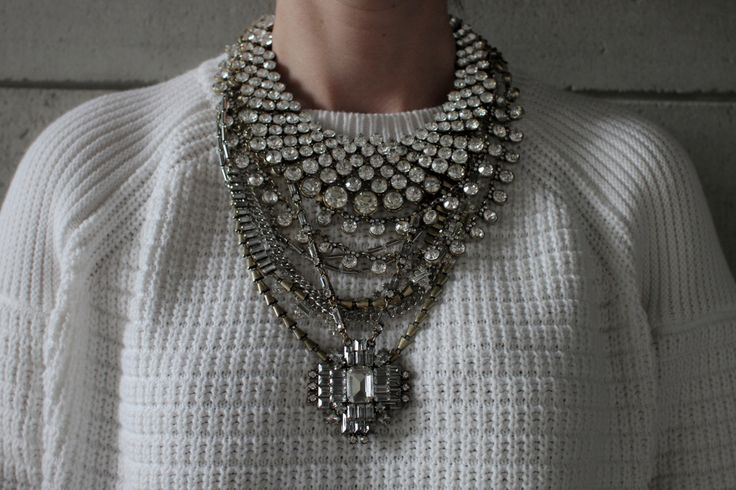 Rickly NEW 2015 collection! Handcrafted Statement Necklace: Silver and Bronze crystal layered & stacked rhinestone ethnic bohemian necklace by Lacersuite on Etsy https://www.etsy.com/listing/227995178/rickly-new-2015-collection-handcrafted
