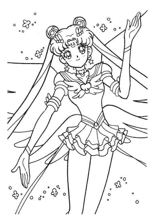 Sailor Moon Wedding Coloring Pages Coloring Pages