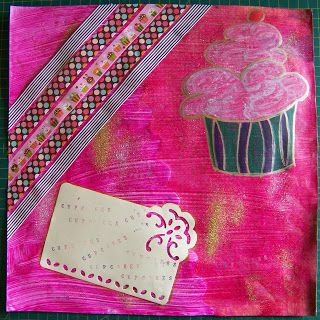 A Pretty Talent Blog: Scrapbook Paper 5: Painting Cupcakes