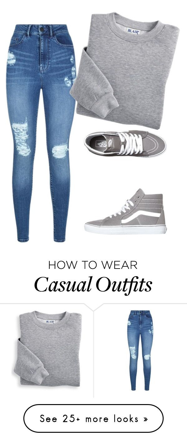 """""""Casual outfit. . ."""" by mooshamoo on Polyvore featuring Lipsy, Blair and Vans"""